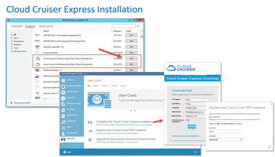 How to Download Cloud Cruiser Express from Microsoft Azure Pack (Click Here) http://www.cloudcruiser.com/microsoft-partnership/