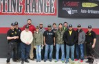 Wounded veterans learn safety at indoor shooting range in Honesdale, PA.