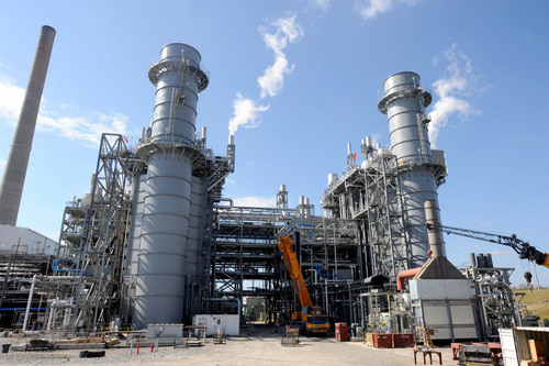 The new combined-cycle natural gas units at Plant McDonough-Atkinson are now all online and producing electricity.  (PRNewsFoto/Georgia Power)