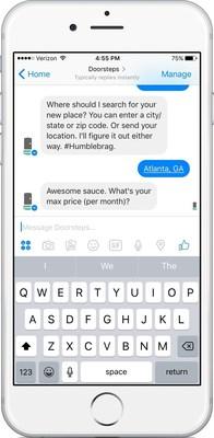 Doorsteps bot for Messenger
