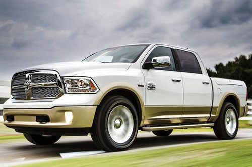 The 2014 Ram 1500 EcoDiesel will be the first light duty pickup truck to be equipped with a diesel engine.  (PRNewsFoto/Stettler Dodge)