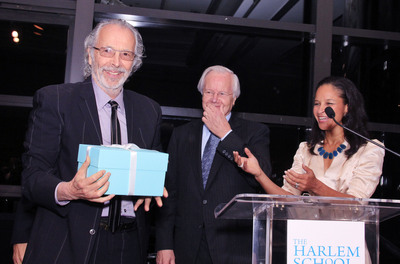 Herb Alpert receives the inaugural Harlem School of the Arts Leadership Award, presented by Bill Moyers and Yvette Campbell, October 10, 2012.  (PRNewsFoto/Harlem School of the Arts)