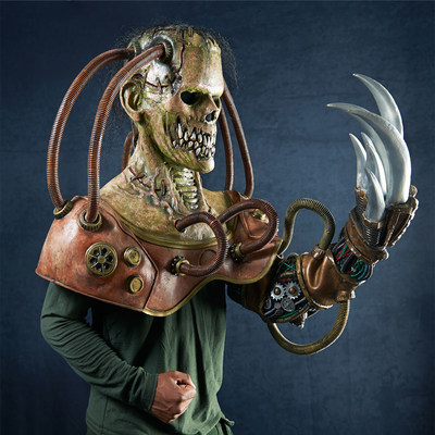 Steampunk Frankenstein is one of 14 monstrous masks within The Nightmare Collection, available on BuyCostumes.com.