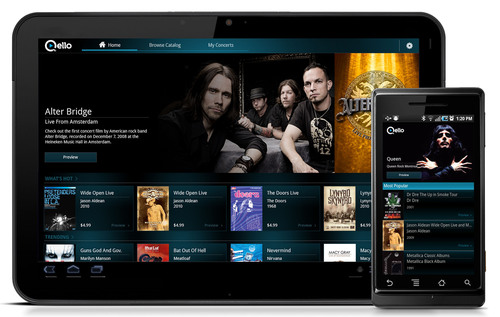 Qello Launches HD Concert Films App for All Android™ Smartphones and Honeycomb Tablets