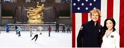 Rink at Rockefeller Center Opening with Meryl Davis & Charlie White