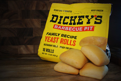 Dickey's delicious 10 count packages of signature buttery rolls can now be purchased in 180 Jewel-Osco grocery stores. Additional Dickey's products to be available soon.