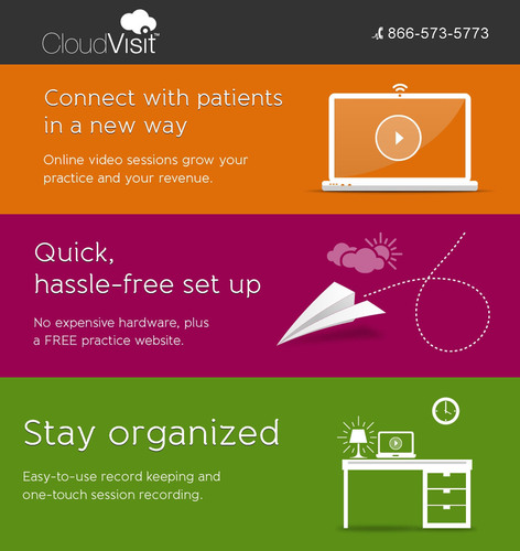 CloudVisit(TM) is the ideal telepsychiatry platform for improving patient access to quality care and increasing  ...