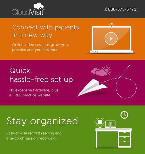 CloudVisit's™ telemedicine security helps doctors open their practices to online patients, not risk