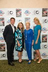 American Humane Association Hero Dog Awards hosts James Denton (left) and Beth Stern (right) pose with American Humane Association President and CEO Dr. Robin Ganzert and philanthropist Lois Pope at a special tribute event for Mrs. Pope at the Colony Hotel in Palm Beach, Fla. on Monday February 9. Mrs. Pope's generous contributions to American Humane Association over the years -- including as the presenting sponsor for the Hero Dog Awards since 2012 -- have helped the organization now touch more than 40,000 lives each minute through its work.