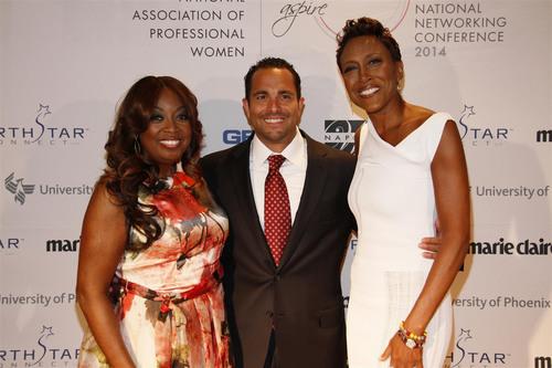 Star Jones, Matt Proman, and Robin Roberts at NAPW 2014 (PRNewsFoto/NAPW) (PRNewsFoto/NAPW)