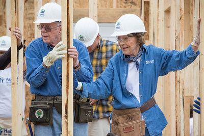 President and Mrs. Carter helped build a home with Habitat for Humanity in Memphis, Tennessee, alongside Garth Brooks and Trisha Yearwood. They will return in August 2016 to build and repair more homes during Habitat's 33rd Carter Work Project.