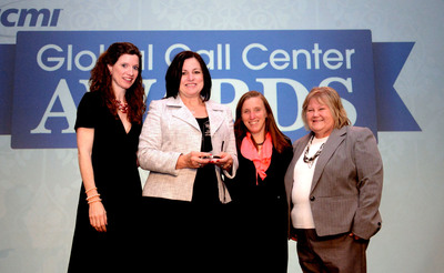 ICMI Global Call Center of the Year Best Customer Experience Program winners from UPMC Health Plan pose with ICMI Global Brand Director Tara Gibb. The event honored the 'best of the best' call center organizations in a variety of categories. The winners were announced on May 14th, 2013 at night at the first annual ICMI Global Call Center Awards Dinner.  (PRNewsFoto/International Customer Management Institute (ICMI)/UBM Live)