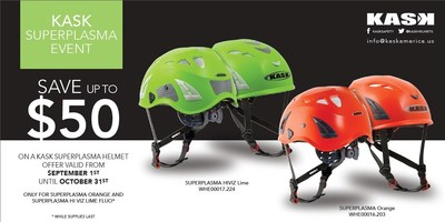 Save up to $50 -- Kask America Super Plasma Special Event 2014 (PRNewsFoto/KASK AMERICA)