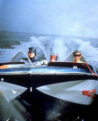 Warner Bros. Consumer Products is bringing the classic pop-culture phenomenon, Batman Classic TV Series, back to the licensing world. Pictured: Batman and Robin on the Bat Boat. (PRNewsFoto/Warner Bros. Consumer Products)
