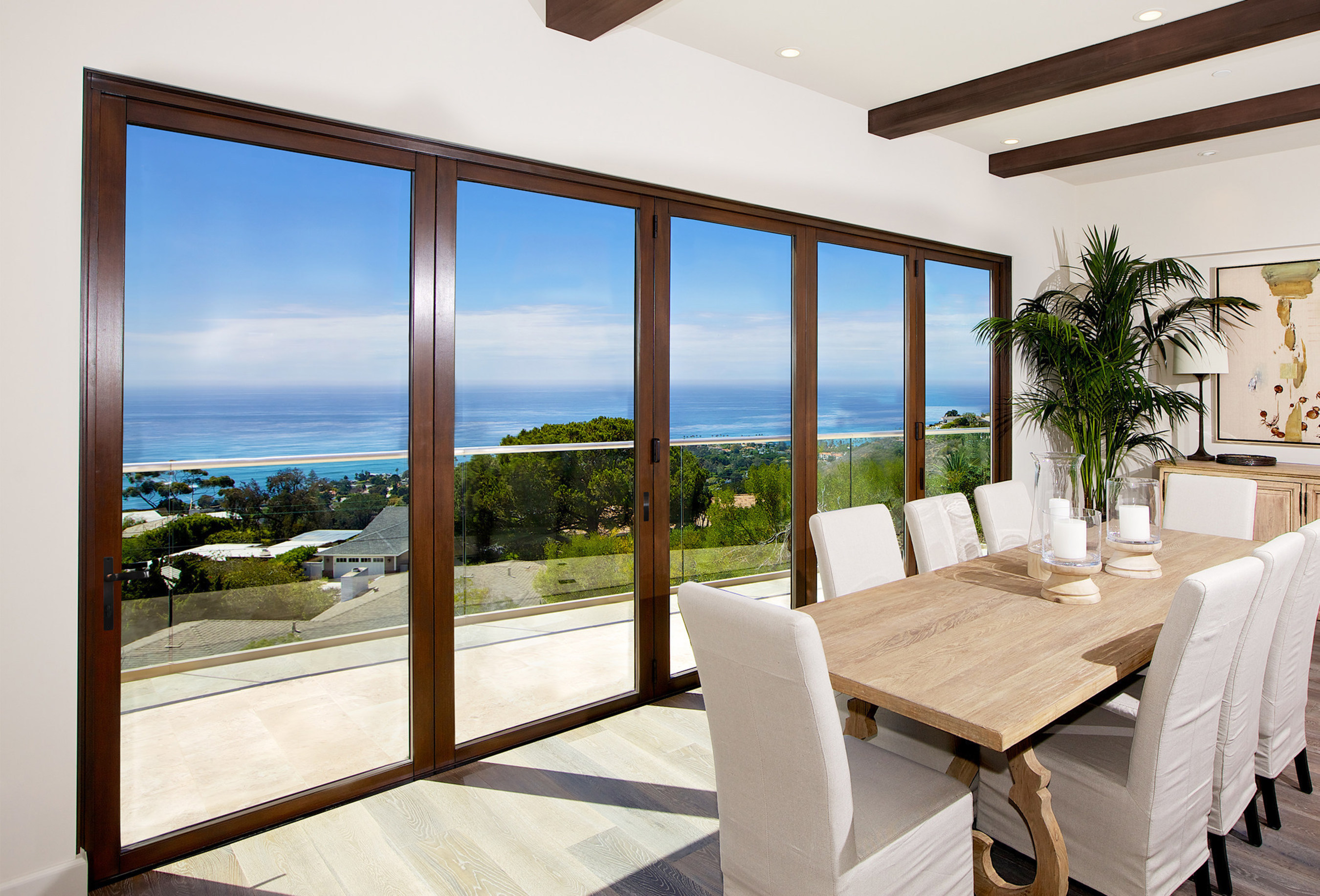 Lacantina doors introduces new contemporary clad system for Large opening sliding glass doors