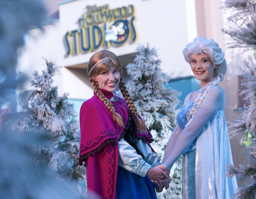"Royal sisters Princess Anna and Queen Elsa, from Disney's hit animated motion picture ""Frozen,"" ..."