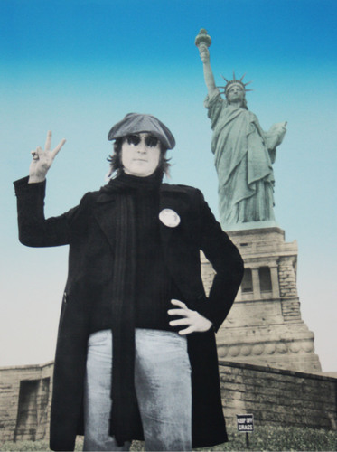 "Bob Gruen unveils John Lennon ""Peace & Freedom"" collection.  (PRNewsFoto/Depiction Art)"