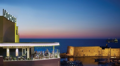 With two neighboring buildings, offering both business and leisure travelers outstanding services and comfort, in 71 rooms and 8 suites, all custom fit with rich furnishings, and excellent in-room amenities, Lato Boutique Hotel stands in one of the best locations in Heraklion city, right above the old harbor. Guests can enjoy creative Cretan cuisine at Lato's internationally-acclaimed restaurants, Brillant, Herbs' Garden, and Aroma. (PRNewsFoto/Lato Boutique Hotel) (PRNewsFoto/Lato Boutique Hotel)