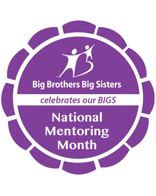 Big Brothers Big Sisters releases Social Media Badge for National Mentoring Month to celebrate and recognize the 200,000 Big Brothers Big Sisters volunteer mentors.  (PRNewsFoto/Big Brothers Big Sisters)