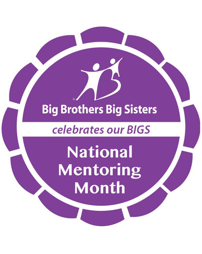 Big Brothers Big Sisters releases Social Media Badge for National Mentoring Month to celebrate and recognize the 200,000 Big Brothers Big Sisters volunteer mentors. (PRNewsFoto/Big Brothers Big Sisters) (PRNewsFoto/BIG BROTHERS BIG SISTERS)