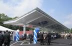 Solaire Generation Unveils Premium Solar Carport Structure at GE Campus.  (PRNewsFoto/Solaire Generation)