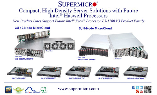 Supermicro(R) Server Solutions with Coming Intel(R) Haswell Processors.  (PRNewsFoto/Super Micro Computer, Inc.)