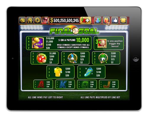 "IGT's DoubleDown Casino Soccer-themed slot game ""Final Goal."" (PRNewsFoto/IGT)"