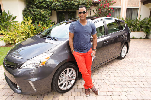 With the support of notable Hispanic influencers, such as Jon Secada, here with the Toyota Prius, Toyota is promoting the importance of living a greener lifestyle.  (PRNewsFoto/Toyota)
