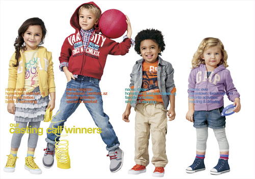 Today, Gap revealed the four cute and charismatic winners of its fifth annual Casting Call contest. Chosen by America from more than one million entries, the new faces of babyGap are Evie Sowers from Tecumseh, MI; Dylan Bandale from Pompton Lakes, NJ; and for GapKids, Sofia Jaworovich from Skillman, NJ; and Keyghan Burns from Hereford, AZ [pictured here]. Evie, Dylan, Sofia and Keyghan's bright smiles and twinkling eyes are lighting babyGap and GapKids store windows coast-to-coast.  (PRNewsFoto/Gap Inc.)