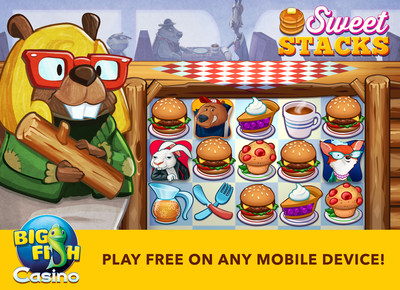 "Big Fish Casino, the top-grossing mobile social digital casino, has just released the next slot in it luxury line, ""Sweet Stacks.  Loosely based on the 1990s cult classic ""Twin Peaks"", Sweet Stacks offers an auto-spin feature, rich graphics, 25 lines to win, a diner setting and many humorous game moments."