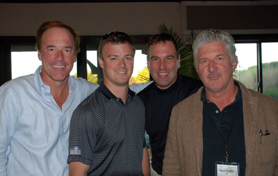 Crystal Springs Resort in Hamburg, NJ - Winning Foursome of The 2nd Annual Gray Cup Invitational Golf Classic. (From the left) John Pisano, Jeffrey Anderson, James Bistis, Peter Dorne. (PRNewsFoto/Core Services Corporation)
