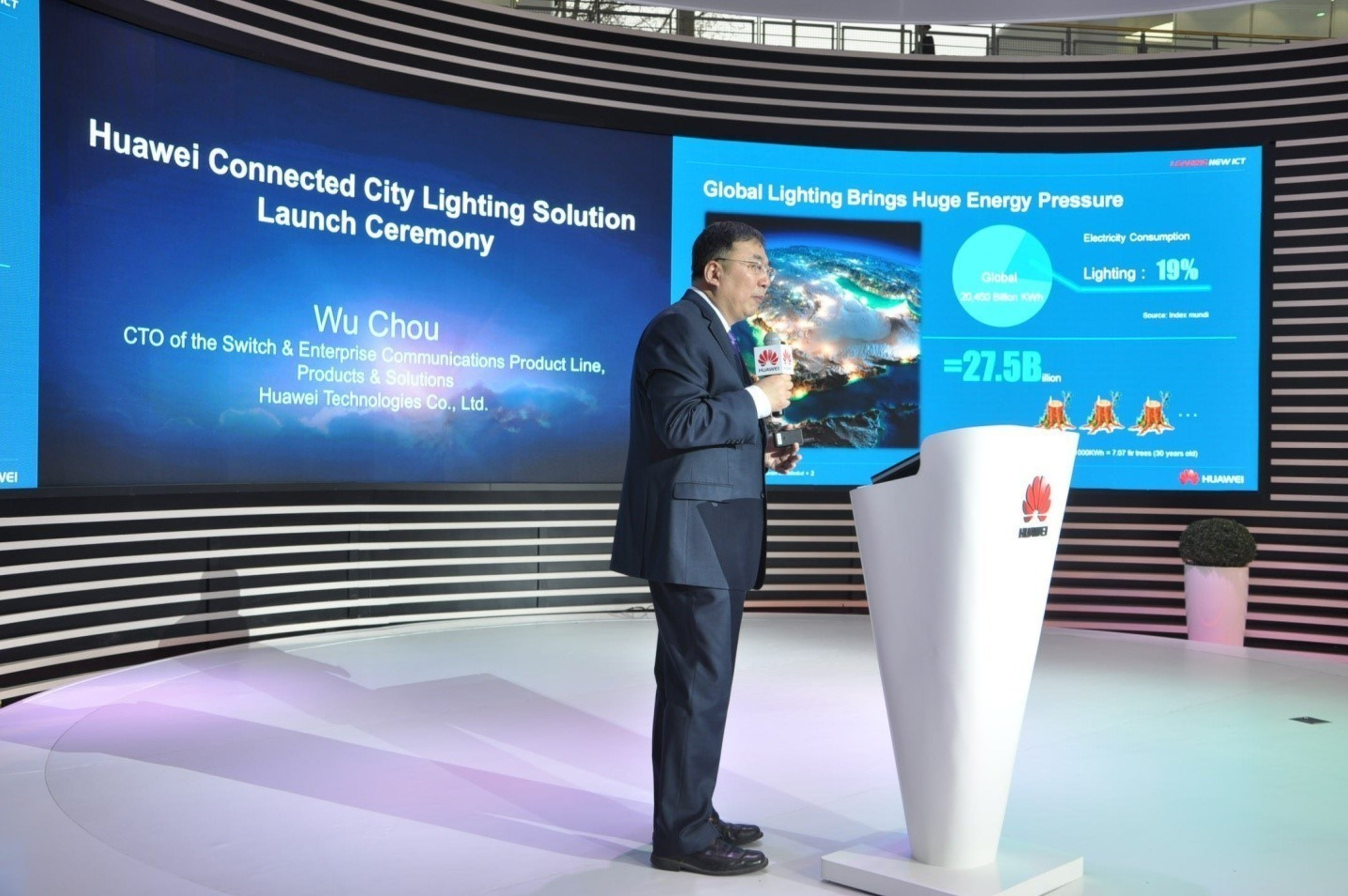 Wu Chou, CTO of Huawei Switch and Enterprise Communications Product Line, debuted the solution.
