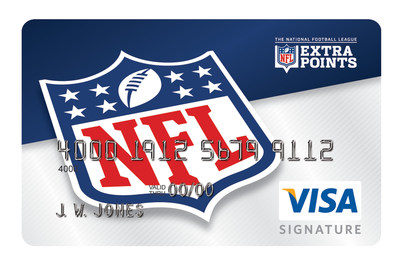 The NFL Extra Points credit card, issued by Barclaycard, offers a card design for every team and enables fans to earn points for every dollar spent.