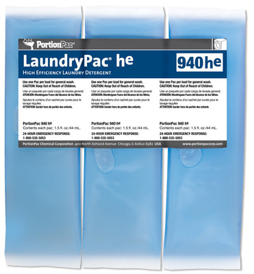 PortionPac Introduces LaundryPac©he for High Efficiency Washers