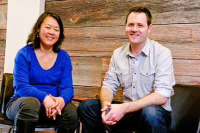Catherine Liao and Rick Breslin.  (PRNewsFoto/Hello Vino)