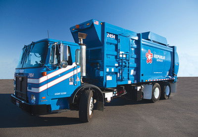 Republic Services' new CNG fleet arrives in south New Jersey.  (PRNewsFoto/Republic Services, Inc.)
