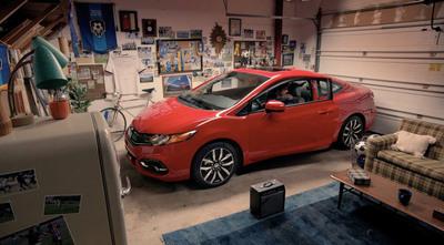 "Honda Launches ""Gol! Gol!"" Hispanic Campaign for 2014 Civic Coupe.  (PRNewsFoto/American Honda Motor Co., Inc.)"