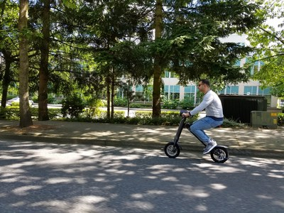 The ScootMatic is a fun ride and easily climbs uphill