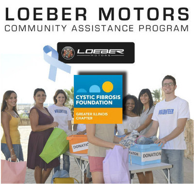 The Cystic Fibrosis Foundation - Greater Illinois Chapter recently won the Loeber Motors Community Assistance Program, which will earn them a $500 donation from the dealership. (PRNewsFoto/Loeber Motors)