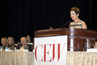 Jane Wurwand, Co-Founder and Chief Visionary of Dermalogica, is recognized by CEW with an Achiever Award for her work as a trailblazing entrepreneur who has revolutionized the professional skin care industry. The awards ceremony was held at the Waldorf Astoria in New York City. Photo credit: Photography by Patricia Willis
