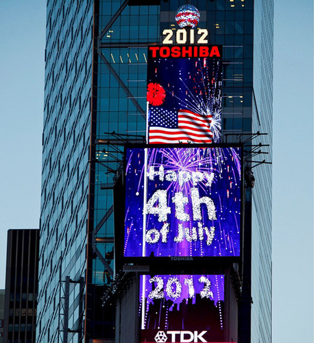 All-Day Tribute To July 4th To Be Paid As Giant Digitally-Animated Fireworks Display Is Featured On