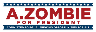 A. Zombie for President, America's first Zombie candidate, committed to equal viewing opportunities for all.  (PRNewsFoto/AMC Networks Inc.)