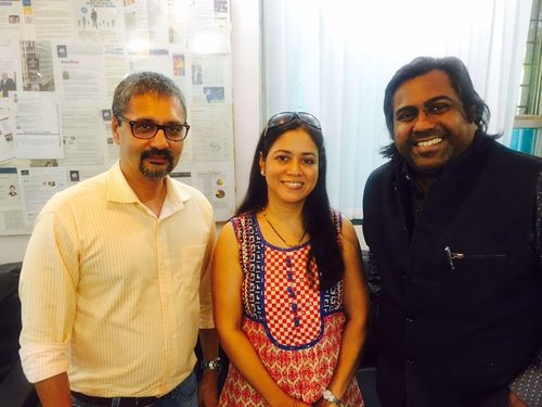 (L to R) Sarang Panchal, Swati Sawant and Raj Sharma (PRNewsFoto/MRSS India)