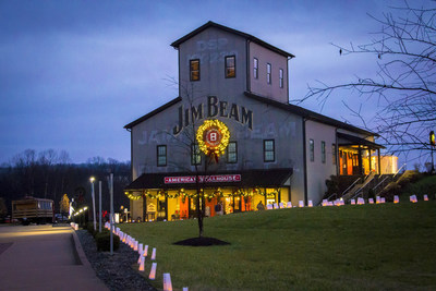 "Jim Beam(R) celebrates ""Lights Up the Holidays"" campaign with a multidimensional digital whiskey experience and the spirits industry's first use of 3-D projection mapping technology."