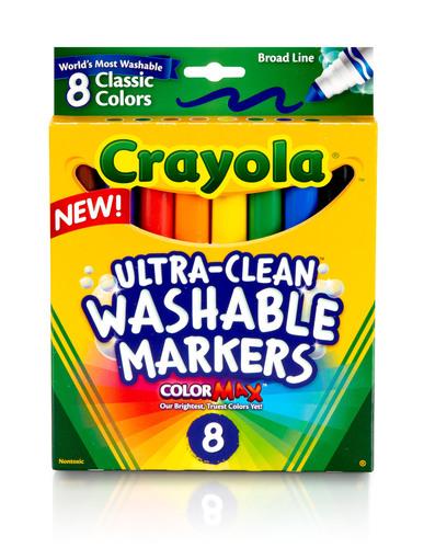 Crayola Ultra-Clean with ColorMax. (PRNewsFoto/Crayola) (PRNewsFoto/CRAYOLA)