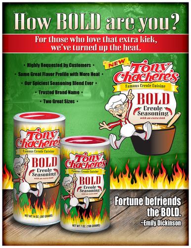 Tony Chachere's to Launch 'Bold' Seasoning