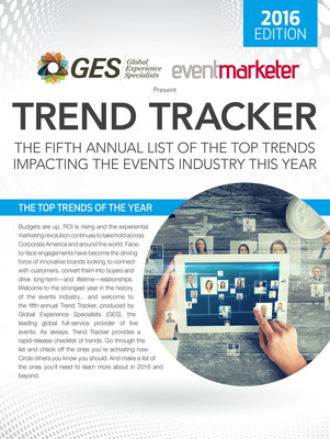 GES releases its fifth annual list of the top trends impacting the events industry this year.