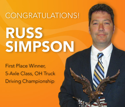 Holland Professional Driver Russ Simpson Wins Division Title at Ohio Truck Driving Competition