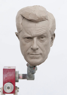 Sculpted clay-head mold of Comedy Central host, Stephen Colbert, in photo unveiled by Madame Tussauds Washington D.C. on November 12 to announce the creation of his wax figure.  Colbert will visit the attraction on Friday, November 16 to help unveil his incredibly lifelike wax figure.  (PRNewsFoto/Madame Tussauds Washington D.C.)