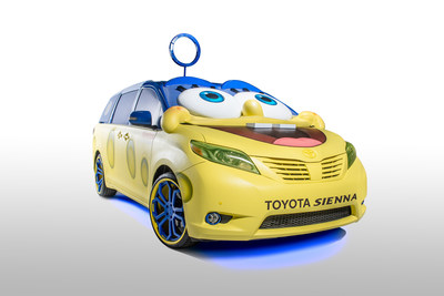 The SpongeBob Movie 2015 Toyota Sienna will be on display at the Chicago Auto Show, Feb. 14-22. It features a custom three-dimensional SpongeBob SquarePants exterior, with a Superhero Incredibubble mask that blows real bubbles at the top of the vehicle. The interior features seating inspired by each of the characters from the Nickelodeon cartoon, along with a wood-grain dashboard, a custom Captain's steering wheel, a blue-sky head liner and a sand-inspired floor.